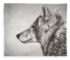 Coyote Profile Fleece Blanket