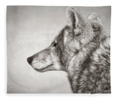 Coyote Profile Fleece Blanket
