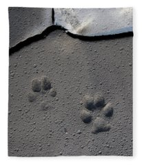 Coyote Tracks Fleece Blanket