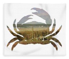 Crab Beach Fleece Blanket