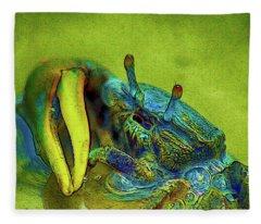 Crab Cakez 2 Fleece Blanket