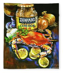 Crab Fixin's Fleece Blanket