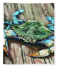 Crabby Blue Fleece Blanket