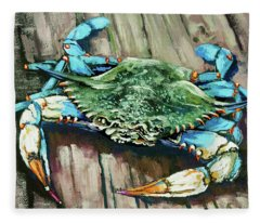 Crabby Blue Fleece Blanket