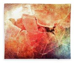 Cracks Of Colors Fleece Blanket