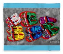 Crafted Children's Shoes Of Northwest Thailand Fleece Blanket