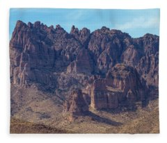 Crags In Cerbat Mountains Fleece Blanket