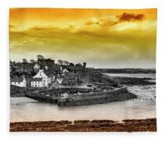 Crail Harbour Fleece Blanket