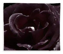 Cranberry Rose Fleece Blanket