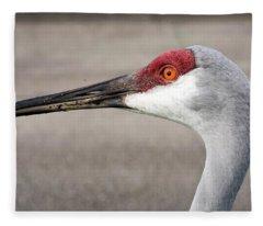 Crane Closeup Fleece Blanket