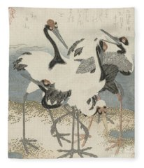 Cranes By The Water Fleece Blanket