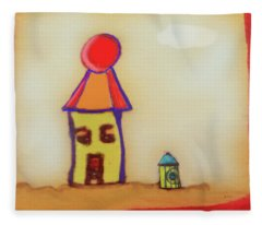 Cranky Clown Cabana And Fire Hydrant Fleece Blanket