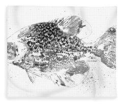 Crappie Abstract Fleece Blanket