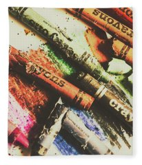 Crash Test Crayons Fleece Blanket
