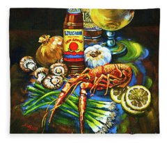 Crawfish Fixin's Fleece Blanket