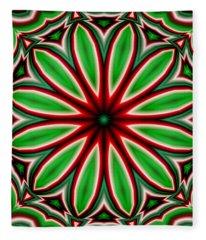 Crazy Christmas Flower Fleece Blanket