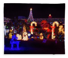 Crazy Christmas Lights 3  Fleece Blanket