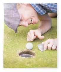Crazy Golfer Fleece Blanket