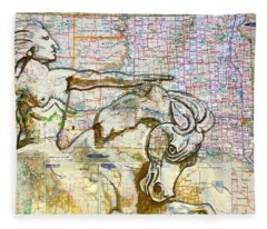 Crazy Horse Fleece Blanket