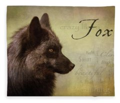 Crazy Like A Fox Fleece Blanket