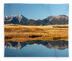 Crazy Mountain Reflections Fleece Blanket
