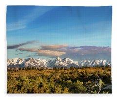 Crazy Mountains Fleece Blanket