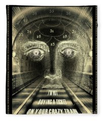 Crazy Train Fleece Blanket