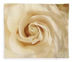 Creamy Rose Fleece Blanket