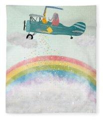 Creating Rainbows Fleece Blanket