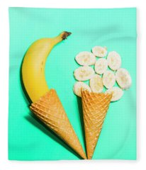 Creative Banana Ice-cream Still Life Art Fleece Blanket