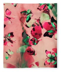 Creative Butterfly Background Fleece Blanket