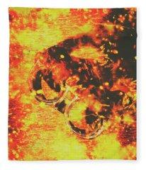 Creative Industrial Flames Fleece Blanket