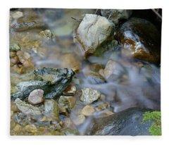 Creek On Mt Tamalpais Fleece Blanket