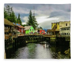 Creek Street 1 Fleece Blanket