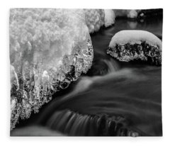 Creek Under The Ice Fleece Blanket
