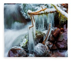 Creekside Icicles Fleece Blanket