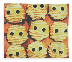 Creepy And Kooky Mummified Cookies  Fleece Blanket