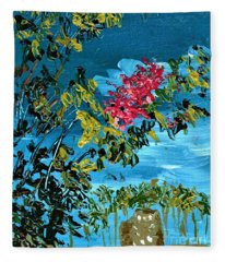 Crepe Myrtle Fleece Blanket
