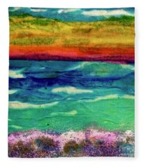 Crepe Paper Sunset Fleece Blanket