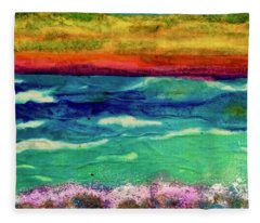 Crepe Paper Sunset Fleece Blanket