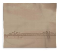 Crescent City Connector Bridge Fleece Blanket