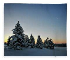 Crescent Dawn Fleece Blanket