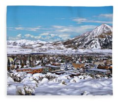 Crested Butte Panorama Fleece Blanket