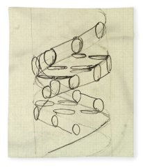 Cricks Original Dna Sketch Fleece Blanket