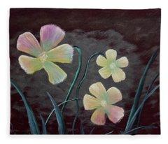 Crimson Flower Fleece Blanket