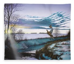Crisp Winter Light Fleece Blanket