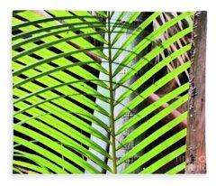Crisscrossing Palms Fleece Blanket