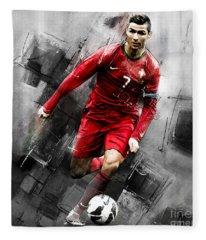 Cristiano Ronaldo 06i Fleece Blanket