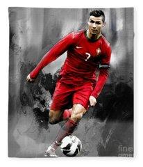 Cristiano Ronaldo 06s Fleece Blanket