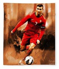 Cristiano Ronaldo 08 Fleece Blanket